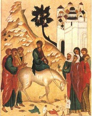 Palmzondag en de ezel